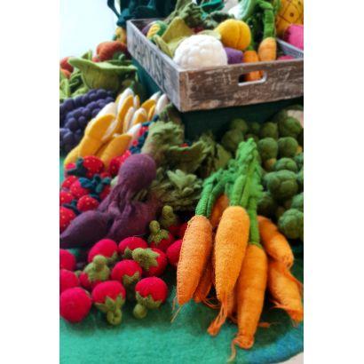 Légumes en laine feutrée - 3 tomates - Papoose Toys  - 3