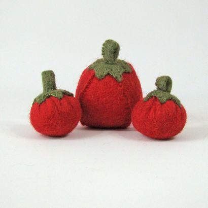Légumes en laine feutrée - 3 tomates - Papoose Toys  - 5