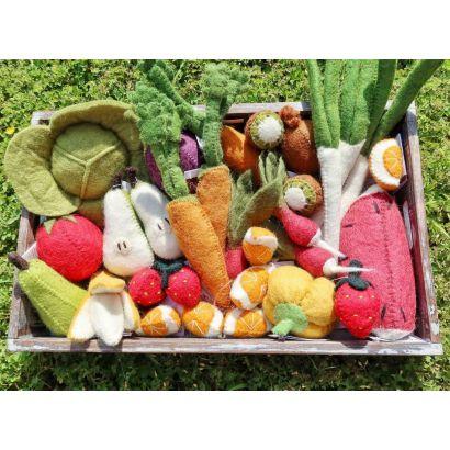 Fruits en laine feutrée - 3 kiwis - Papoose Toys  - 2
