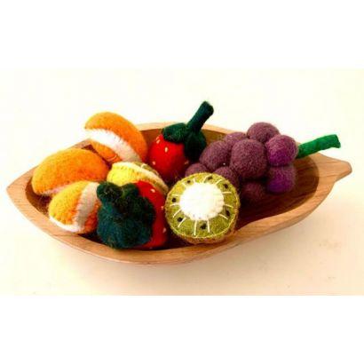 Fruits en laine feutrée - 3 kiwis - Papoose Toys  - 3