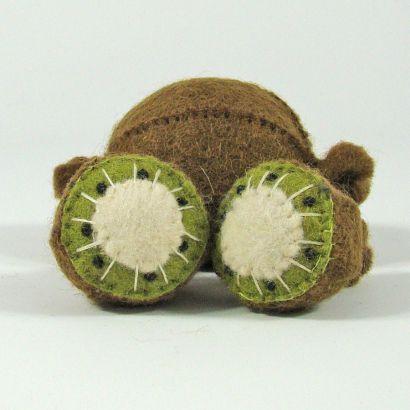 Fruits en laine feutrée - 3 kiwis - Papoose Toys  - 4
