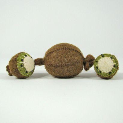 Fruits en laine feutrée - 3 kiwis - Papoose Toys  - 5