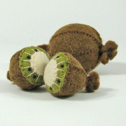 Fruits en laine feutrée - 3 kiwis - Papoose Toys  - 6