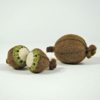 Fruits en laine feutrée - 3 kiwis - Papoose Toys  - 7