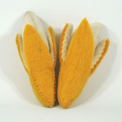 Fruits en laine feutrée - 2 bananes - Papoose Toys  - 3