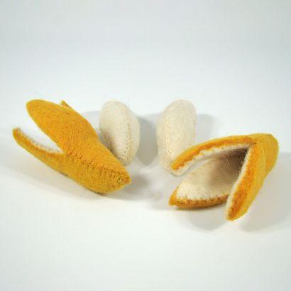 Fruits en laine feutrée - 2 bananes - Papoose Toys  - 5