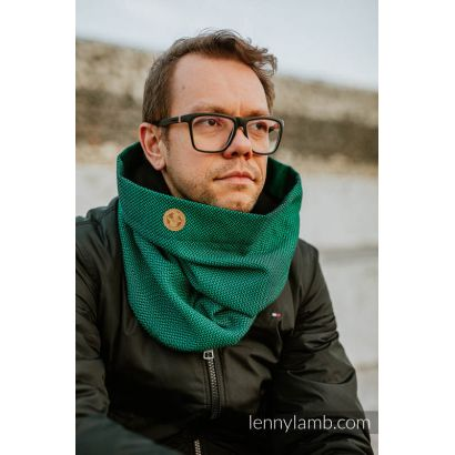 Snood Lennylamb - Little Herringbone Emeraude & Noir Lennylamb - 1