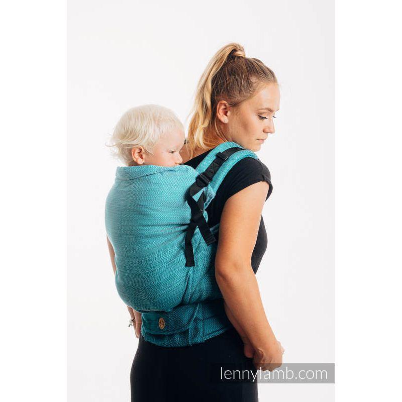 LennyPreschool Lennylamb - Little Herringbone Ombre Teal Lennylamb - 1