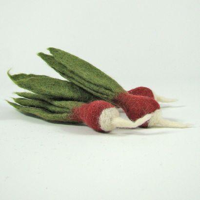 Lot de 3 radis en laine feutrée - Papoose Toys  - 2