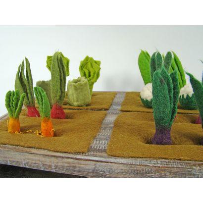 Lot de 3 radis en laine feutrée - Papoose Toys  - 5