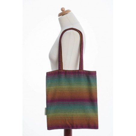 Sac Shopping Lennylamb - Little Herringbone Imagination Dark - 33cmx39cm