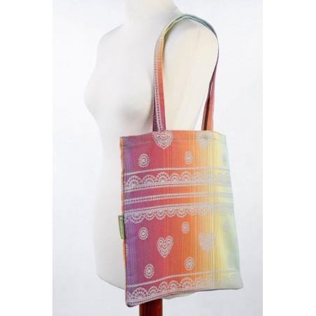 Sac Shopping Lennylamb - Rainbow Lace Silver - 33cmx39cm