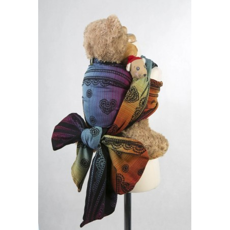 Echarpe Porte poupon - Rainbow Lace Dark (100% coton) - Lennylamb
