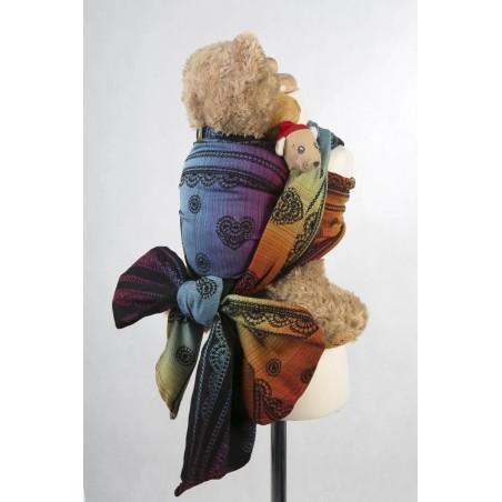 Echarpe Porte poupon - Rainbow Lace Dark - Lennylamb