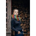 Snood Lennylamb - Little Herringbone Imagination Dark & Dark Green - Coton et polaire