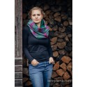Snood Lennylamb - Little Herringbone Impression Dark & Dark Green - Coton et polaire