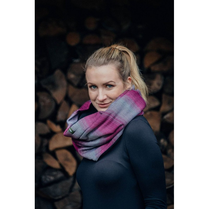 Snood Lennylamb - Little Herringbone Inspiration & Black - Coton et polaire