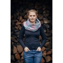 Snood Lennylamb - Little Love Daybreak & Grey - Coton et polaire