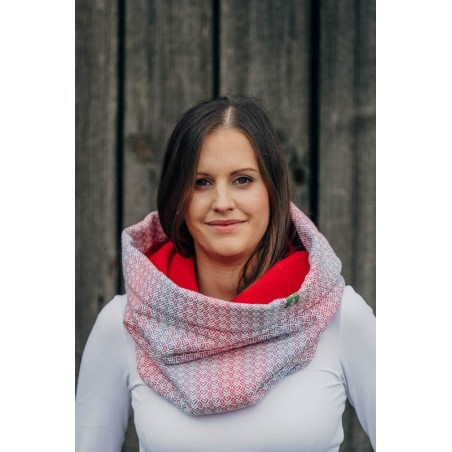 Snood Lennylamb - Little Love Haze & Red - Coton et polaire