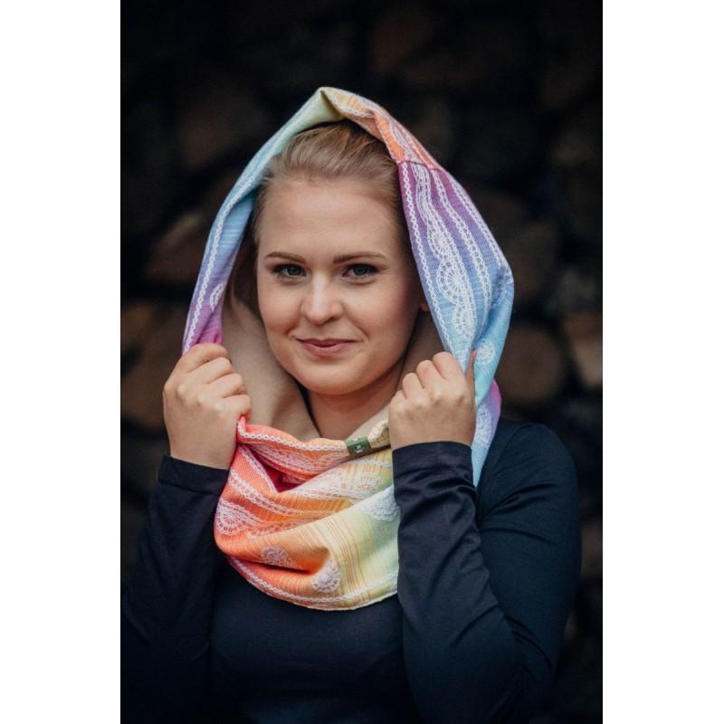 Snood Lennylamb - Rainbow Lace & Caffe Latte - Coton et polaire