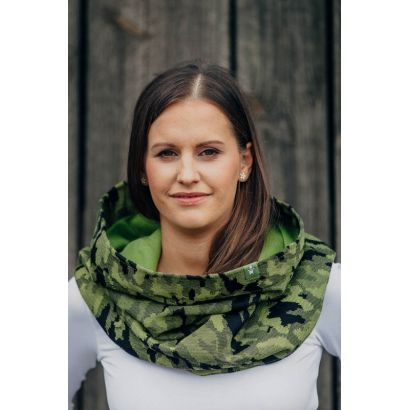 Snood Lennylamb - Green Camo & Malachite - Coton