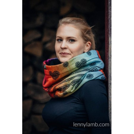 Snood Lennylamb - Rainbow Lace Dark & Black - Coton et polaire