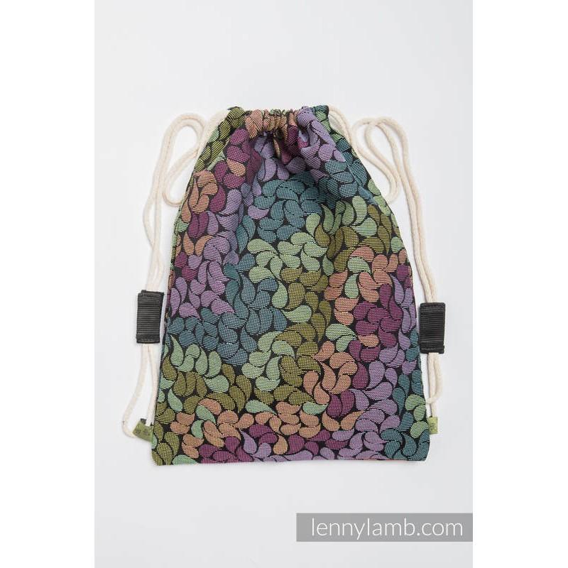 Sac en tissu d'écharpe Lennylamb - Colors of Rain - 100% coton - 35cm x 45cm