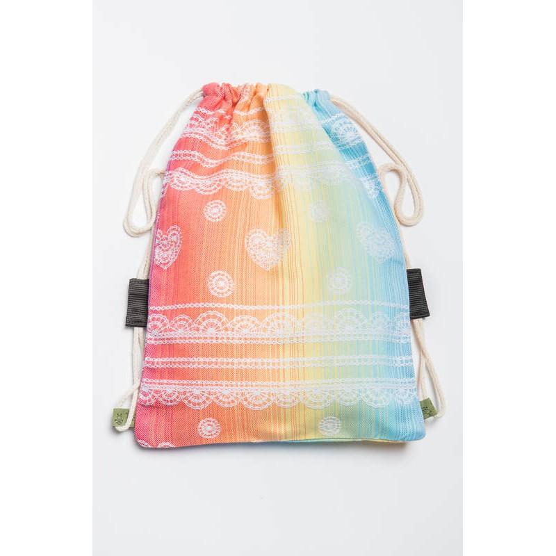 Sac en tissu d'écharpe Lennylamb - Rainbow Lace - 100% coton - 35cm x 45cm