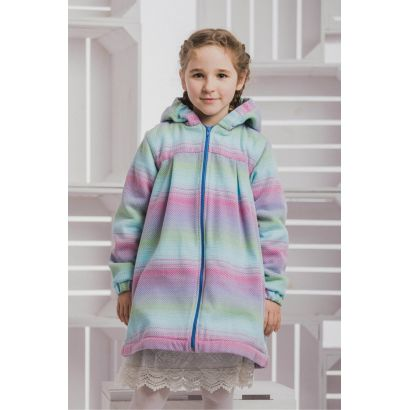 Manteau Fille - Colors of Fantasy with Blue - Coton et polaire