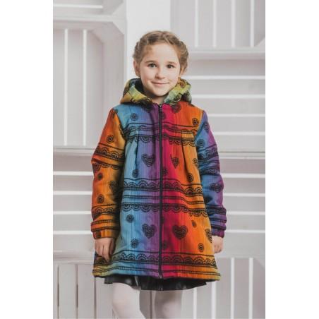 Manteau Fille - Rainbow Lace Dark with Black - Coton et polaire