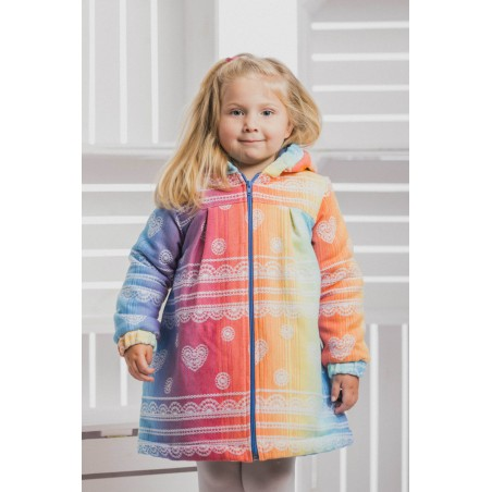 Manteau Fille - Rainbow Lace with Blue - Coton et polaire