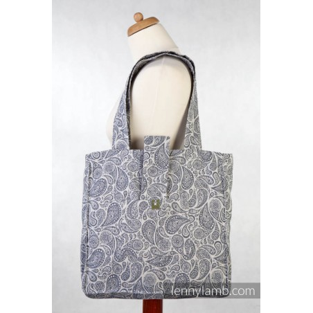 Sac à main - Paisley Navy Blue & Cream - Lennylamb