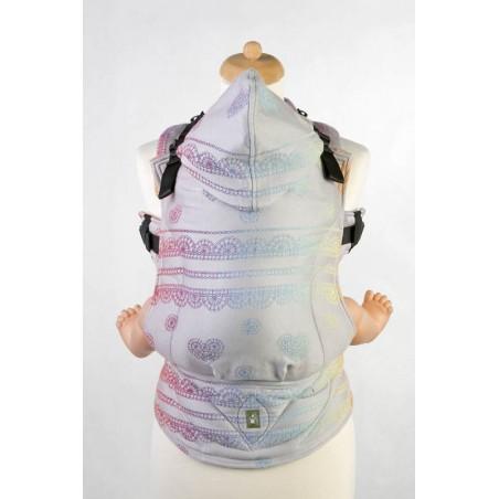 Porte bébé Préformé - Rainbow Lace Silver Reverse - 100% coton - Taille Baby