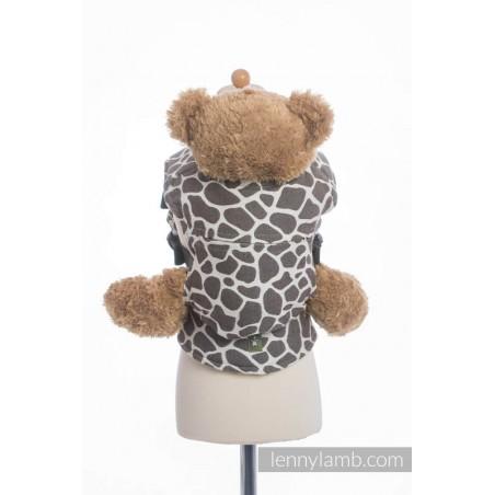 Porte poupon - Giraffe Dark Brown & Creme - Lennylamb