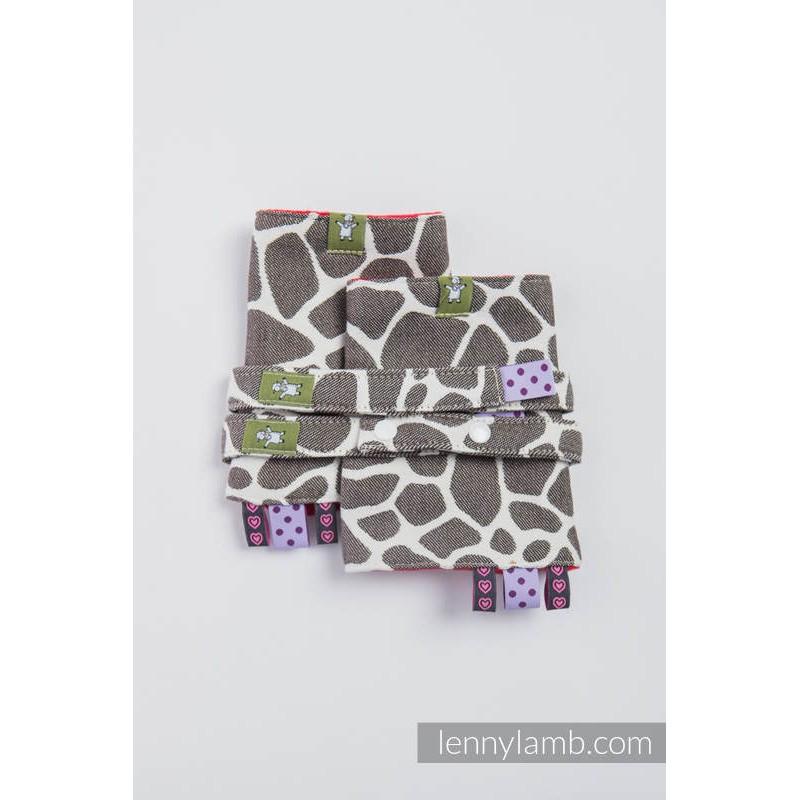 Protège bretelles pour porte-bébé - Giraffe Dark Brown & Creme - Lennylamb