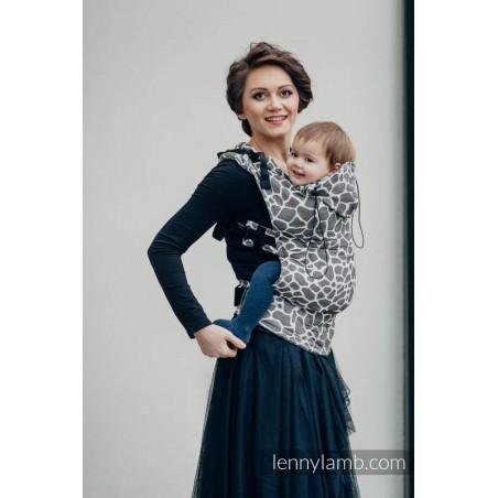 Porte bébé Préformé Toddler - Giraffe Dark Brown & Creme - Lennylamb - A partir de 18 mois