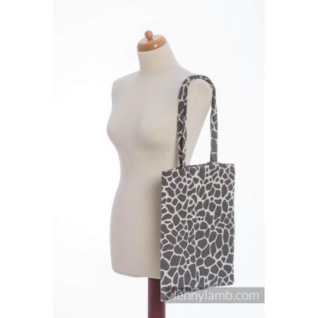Sac Shopping Lennylamb - Giraffe Dark Brown & Creme - 33cmx39cm