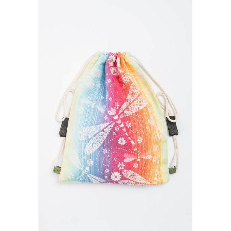 Sac en tissu d'écharpe Lennylamb - Dragonfly Rainbow - 100% coton - 35cm x 45cm