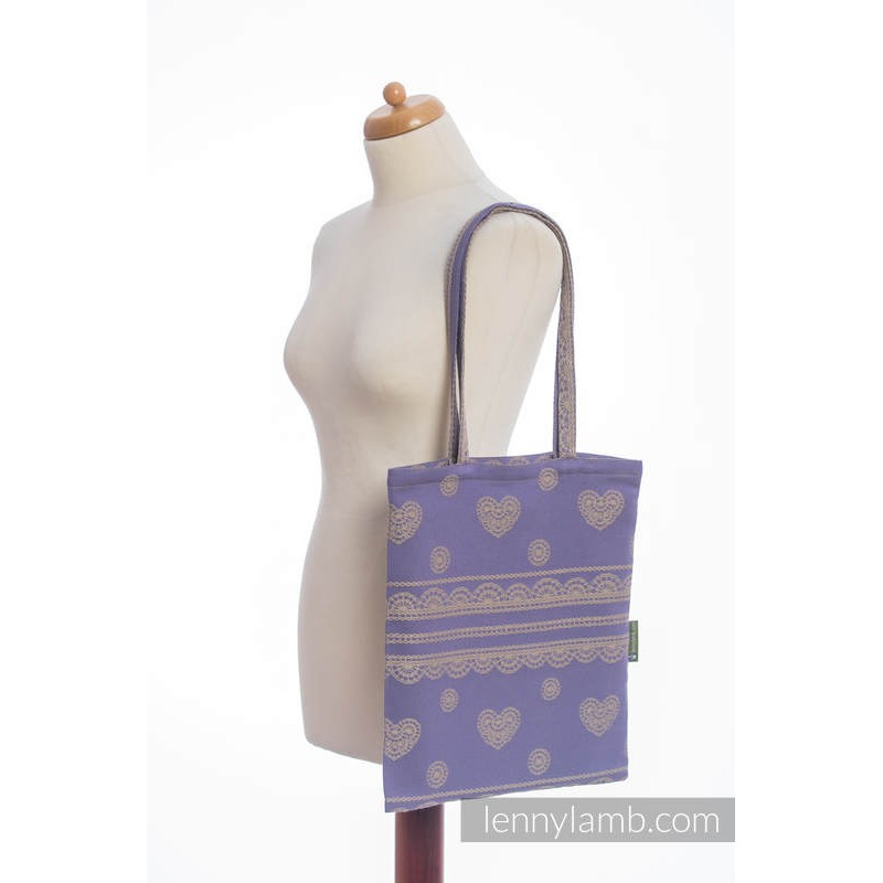 Sac Shopping Lennylamb - Plum Lace - 33cmx39cm
