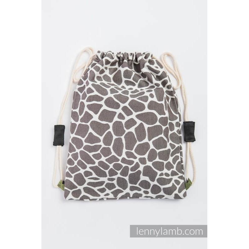 Sac en tissu d'écharpe Lennylamb - Giraffe Brown & Creme - 100% coton - 35cm x 45cm