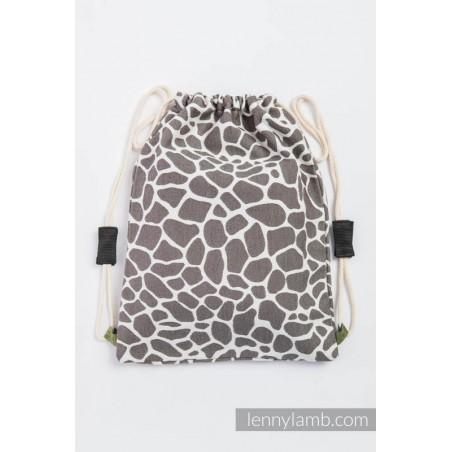 Sac à lanières Lennylamb - Giraffe Brown & Creme - 100% coton - 35cm x 45cm