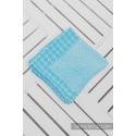 Couverture - Turquoise - Lennylamb (60% coton - 40% laine mérinos)