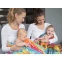 Carré de mousseline bébé - Dragonfly Rainbow - Lennylamb