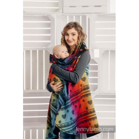 Cardigan - Rainbow Lace Dark - Lennylamb