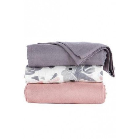 Lot de 3 maxi langes - Carry Me - Tula