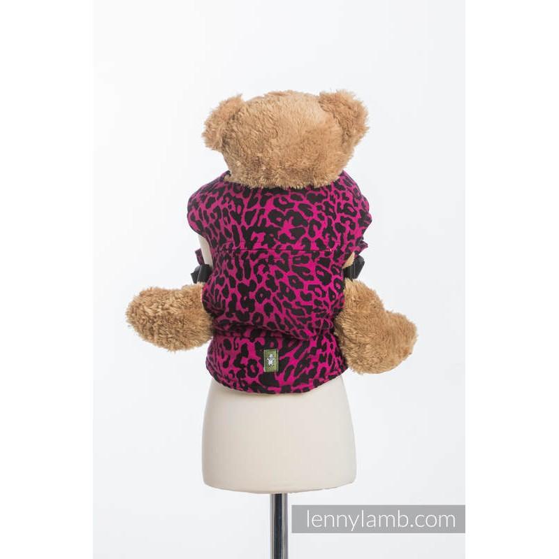 Porte poupon - Cheetah Black & Pink - Lennylamb