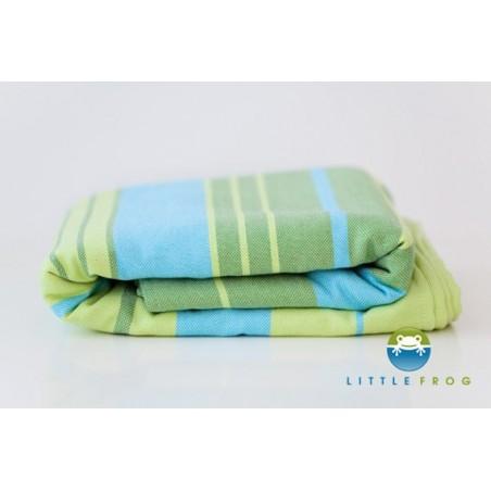 Echarpe Little Frog - Bambou Turquoise (5,2 m) - 55% Coton/45% Bambou