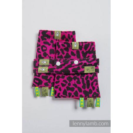 Protège bretelles - Lennylamb - Cheetah Black & Pink