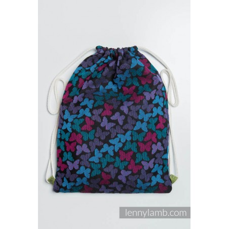 Sac à lanières Lennylamb - Butterfly wings at night - 100% coton - 35cm x 45cm