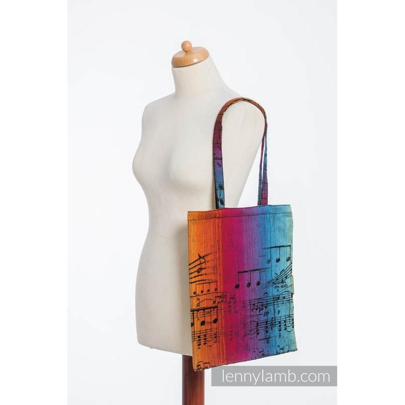 Sac Shopping Lennylamb - Symphony Rainbow Dark - 33cmx39cm